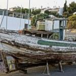 Historical spanish decoration wooden boat — Stock Photo #12304722