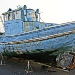 Historical spanish decoration wooden boat — Stock Photo #12304740