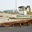 Historical spanish decoration wooden boat — Stock Photo #12304757