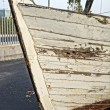 Wooden hull boat — Stock Photo