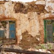 Abandoned spanish old windows - Stockfoto