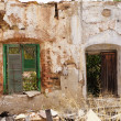 Abandoned spanish old windows — Stock Photo