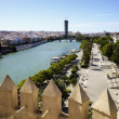 Cityscape of Seville - Stock Photo