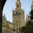 La Giralda Tower in Seville, Spain - Stock Photo