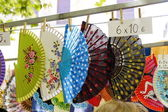 Tradicional colorful Spanish Fans — Foto de Stock