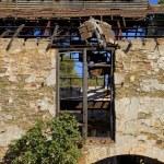 Mining area, facade with windows — Stock Photo