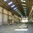 Stock Photo: Deserted empty warehouse
