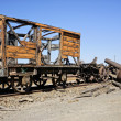 Abandoned facilities freight wagon. — Foto de Stock