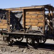 Abandoned facilities freight wagon. - Stock Photo
