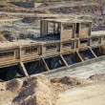 la historia industrial, mina de carbón abandonada — Foto de Stock