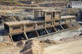 La storia industriale, la miniera di carbone abbandonata. — Foto Stock