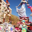 Fallas - the colorful funny figures — Stock Photo