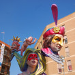 Fallas - the colorful funny figures - Zdjcie stockowe
