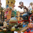 Stock Photo: Typical fallat Fallas party on Valencia
