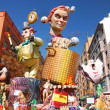 Stock Photo: Fallas - colorful funny figures