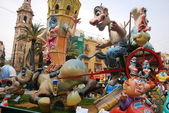 Typical falla at Fallas party on Valencia — Stock Photo