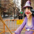 Fallas, with broom - Lizenzfreies Foto