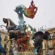 Las fallas,  colorful funny figures — Stock Photo