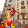 Fallas - colorful funny figures — Stock Photo