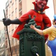 Stock Photo: Red devil, evil, handmade statue cartoon. Valencifallas festival.