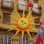 Постер, плакат: Valencia fallas festival Handmade statue cartoon