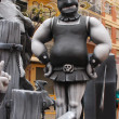 Fallas Valencia, paper mache popular fest figures. — Stock Photo