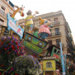 Las fallas,  colorful funny figures - Foto Stock