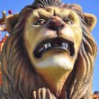 Постер, плакат: Traditional Three Kings Parade detail Lion in Spain