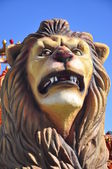 Traditional Three Kings Parade, detail Lion in Spain — Stock Photo