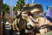 Mechanical dinosaur in L'Umbracle — Stock Photo