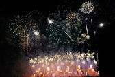 Fireworks show, Spain — Stock Photo