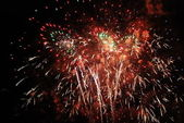 Fireworks show, Colombina, - Huelva — Stock Photo