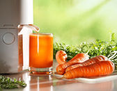 Fresh carrot juice — Stock Photo