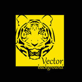 Abstract tiger background with place for your text — Vector de stock