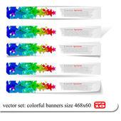 Abstrakte farbenfrohe banner setzen entwürfe — Stockvektor