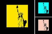 The vector retro Statue of Liberty background — Stock Vector
