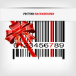 Royalty-Free Stock Vector Image: Barcode image with red strip and bow