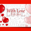 Royalty-Free Stock Imagen vectorial: Heart from paper Valentines day card background