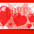 Heart from paper Valentines day card grunge background — Stock Vector