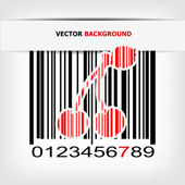 Barcode image with red strip — Stock Vector