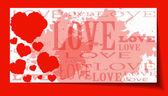 Corazón de fondo papel día de san valentín tarjeta grunge — Vector de stock