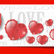 Heart from paper Valentines day card grunge background — Stock Vector #26116285