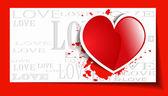 Cuore da san valentino sfondo grunge carta — Vettoriale Stock
