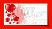 Heart from paper Valentines day card grunge background — 图库矢量图片