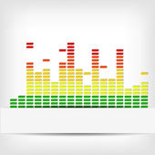 Abstract rainbow equalizer background — Stock Vector