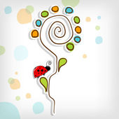 抽象花卉与花卉背景 — 图库矢量图片