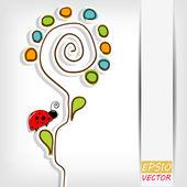 Květinové pozadí s abstraktní květ — Stock vektor