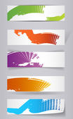 Grungy colored banners ready for your text - vector illustration — Stock Vector