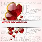 Shiny glossy heart on white — Stock Vector