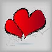 The vector Valentine's Day card — Stockvektor